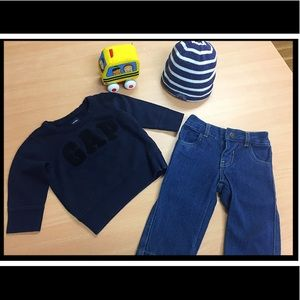 💟 3 FOR 1: Gap sweater, LuckyBrand jeans, H&M hat